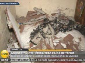 Pareja herida al caer techo de su vivienda en Chorrillos