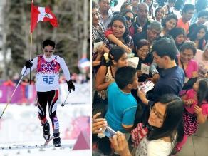 Roberto Carcelén regresó a Lima entre aplausos tras competir en Sochi 2014