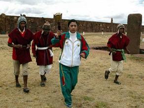 Juegos Suramericanos 2014: Encienden llama en ciudadela Tiahuanaco
