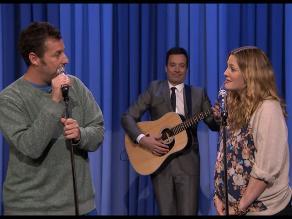Adam Sandler y Drew Barrymore cantaron juntos