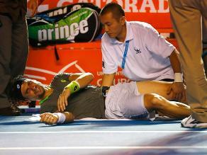 David Ferrer se lesiona y le dice adiós al Abierto de Tenis de Acapulco