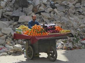 Vendedor de frutas refleja esperanza de sirios