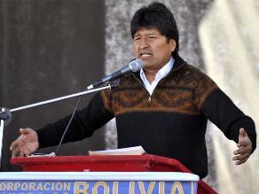 Evo Morales, molesto por