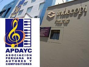 Indecopi suspende a consejo directivo de Apdayc por un año