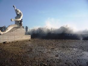 Advierten que litoral liberteño presentará oleajes anómalos