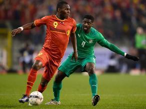 Bélgica deja dudas tras empatar 2-2 con Costa de Marfil en amistoso