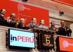 Perú dio tradicional campanazo en la Bolsa de Nueva York