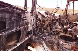 Cajamarca: Desconocidos incendiaron una camioneta en El Tambo