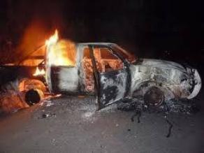 Cajamarca: ronderos de El Tambo investigarán incendio de camioneta
