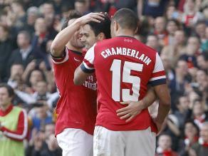 Arsenal vence a Everton por 4-1 y ya está en semifinales de la Copa FA