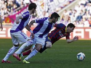 Barcelona cae ante Valladolid y no puede tomar la punta de liga española