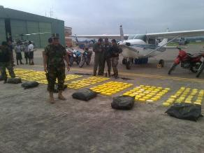 Pasco: intervienen avioneta boliviana con 325 kilos de droga