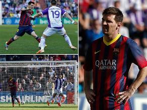 Revive la derrota del Barcelona ante Valladolid por la Liga española
