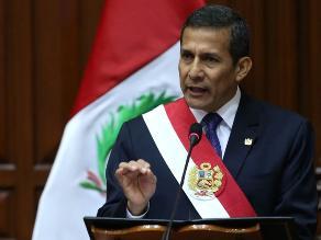 Presidente Humala formula votos para consolidar relación con Chile