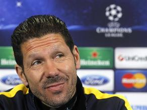 Diego Simeone: Yo espero al mejor Milan, será un partido duro y difícil