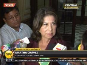 Martha Chávez: Alan García dejó el país destrozado y quebrado