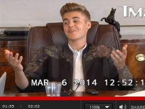 Justin Bieber se muestra arrogante en video judicial