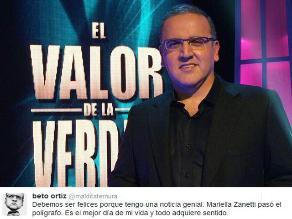 Beto Ortiz: ´Mariella Zanetti pasó el polígrafo´
