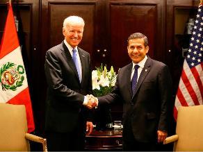 Ollanta Humala se reunió con vicepresidente de EEUU, Joe Biden