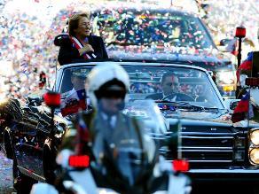 La victoriosa llegada de Michelle Bachelet a Palacio de La Moneda