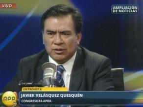Velásquez sobre protesta contra Tejada: Apristas ´lo harían cien veces´