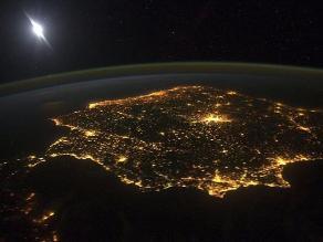 Así luce la península ibérica desde el espacio