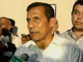 Presidente Humala: ´Compatriota Nadine Heredia va a seguir trabajando´