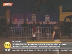 Policía y serenazgo de la MML continúan en ex mercado La Parada