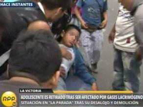 La Parada: gases lacrimógenos afectan a adolescente