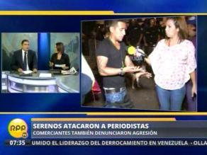 Agreden a camarógrafo de RPP durante rescate sanitario de La Parada