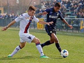 Andy Polo anotó primer gol en Italia, aunque Inter cayó 3-2 ante Cagliari