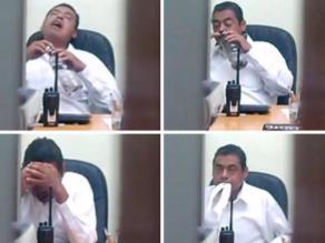 Video: Despiden a un empleado público por drogarse en la oficina