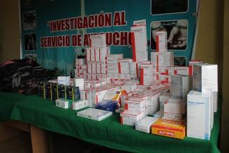 Ayacucho: desbaratan banda de delincuentes que robaban farmacias