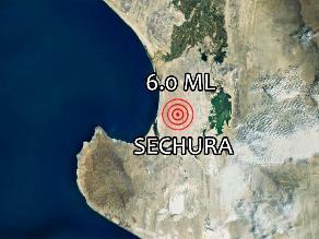 Se registró sismo de 6.0 grados en el norte del país