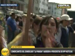 La Parada: Mujer agrede con un palo a camarógrafo de RPP