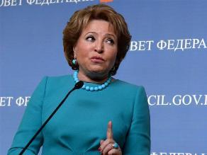 Tras ser sancionada, presidenta de Senado ruso acusa de chantaje a EEUU