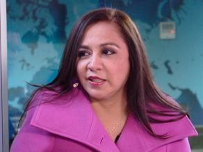 Piura: Marisol Espinoza se corta la frente durante inauguración