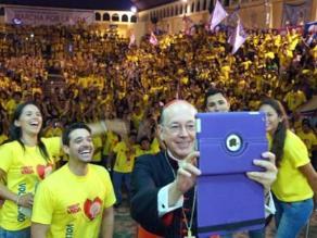 Cipriani se tomó un selfie durante encuentro con jóvenes