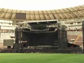 Así será el escenario del concierto de Metallica en Lima