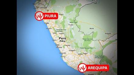 Dos sismos de regular intensidad remecieron el Perú este miércoles