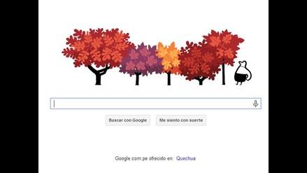 Google da la bienvenida al otoño con doodle