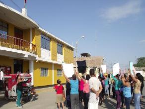 Lambayeque: comerciantes de mercado de Jayanca protestan