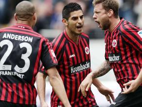 Frankfurt de Carlos Zambrano goleó 5-2 a Nuremberg por la Bundesliga