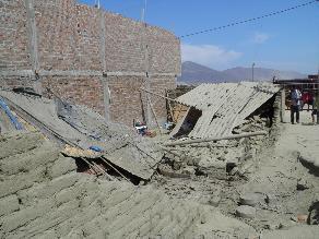 Chimbote: gestante y su hijo salvan de morir aplastados por pared