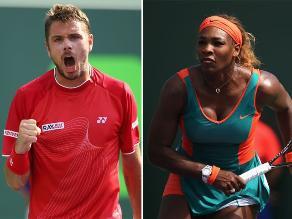 Stanislas Wawrinka y Serena Williams avanzan en el Abierto de Miami