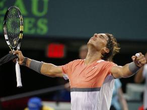 Rafael Nadal avanzó a octavos de final en Miami tras vencer a Istomin