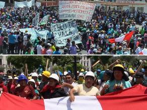 Situación es incierta en Arequipa y Lima donde mineros continúan protestas