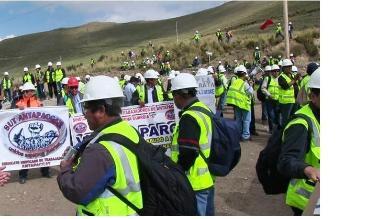 Cusco: Trabajadores de minera Antapaccay cumplen paro de 48 horas