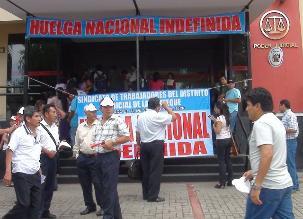 Chiclayo: 15 mil procesos judiciales paralizados por huelga