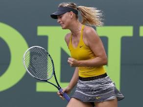 María Sharapova avanzó a semifinales en Miami tras vencer a Kvitova